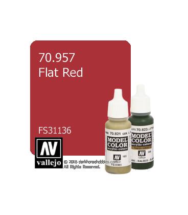 Vallejo Model Color: Flat Red (17ml)