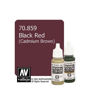 Vallejo Model Color: Black Red (17ml) (Cadmium Brown)