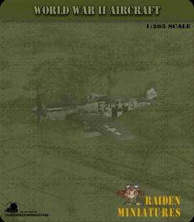 1:285 Scale: Curtiss P-40E Kittyhawk