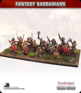10mm Fantasy Barbarians: Assorted Warriors