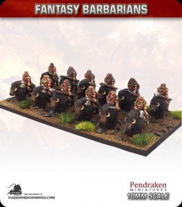 10mm Fantasy Barbarians: Bison Riders