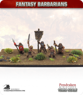 10mm Fantasy Barbarians: Command Group