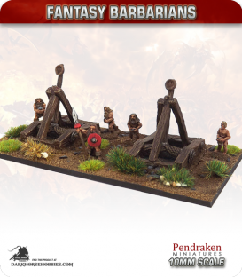 10mm Fantasy Barbarians: Catapults with Crew