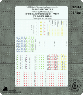 Decals (1:160): British Armored Division - NW Europe - 1944/45