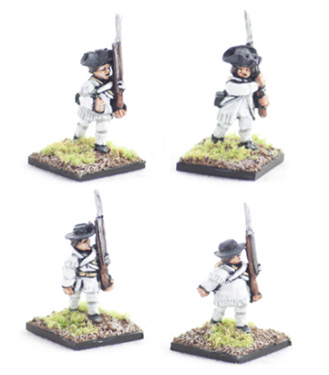 10mm American Revolution: Continental, hunting shirts, marching