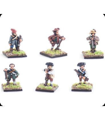 10mm American Revolution: Militia, standing