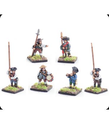 10mm American Revolution: Militia, command, standing