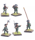10mm American Revolution: Continental command, hunting shirts