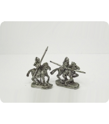 10mm Mongols: Heavy Cavalry with spear and bow