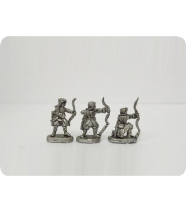 10mm Mongols: Dismounted Cavalry with Bow