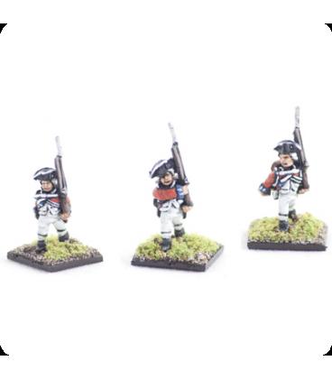 10mm American Revolution: British Line 1768 warrant, march attack