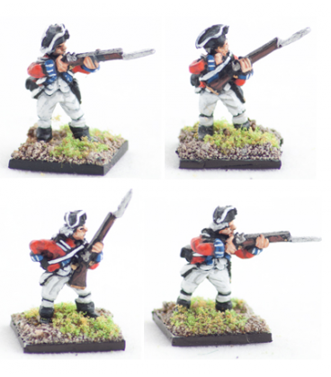 10mm American Revolution: British Line 1768 warrant, firing line