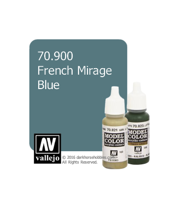 Vallejo Model Color: French Mirage Blue (17ml)