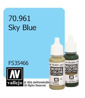 Vallejo Model Color: Sky Blue (17ml)
