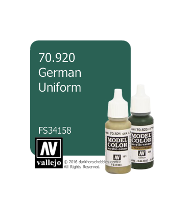 Vallejo Model Color: German Uniform (17ml)