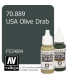 Vallejo Model Color: USA Olive Drab (17ml)