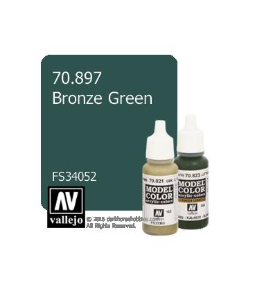 Vallejo Model Color: Bronze Green (17ml)