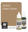 Vallejo Model Color: Green Ochre (17ml)