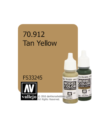 Vallejo Model Color: Tan Yellow (17ml)
