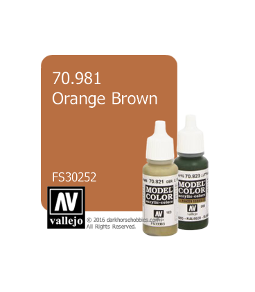 Vallejo Model Color: Orange Brown (17ml)