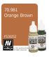 Vallejo Model Color: Orange Brown (17ml)