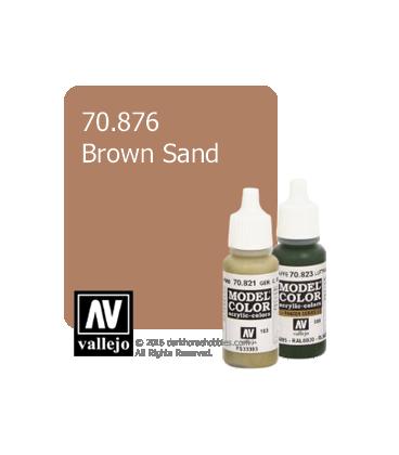 Vallejo Model Color: Brown Sand (17ml)