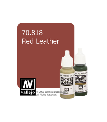 Vallejo Model Color: Red Leather (17ml)