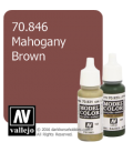 Vallejo Model Color: Mahogany Brown (17ml)