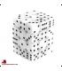 Chessex: Opaque 12mm d6 White/Black dice set (36)