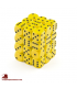 Chessex: Opaque 12mm d6 Yellow/Black dice set (36)