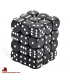 Chessex: Opaque 12mm d6 Black/White dice set (36)