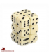 Chessex: Opaque 16mm d6 Ivory/Black dice set (12)