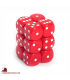 Chessex: Opaque 16mm d6 Red/White dice set (12)