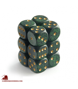 Chessex: Speckled 16mm d6 Golden Recon dice set (12)