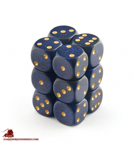 Chessex: Speckled 16mm d6 Golden Cobalt dice set (12)