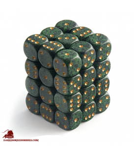 Chessex: Speckled 12mm d6 Golden Recon dice set (36)