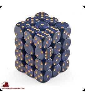 Chessex: Speckled 12mm d6 Golden Cobalt dice set (36)