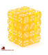 Chessex Dice: Translucent 12mm d6 Yellow/White dice set (36)