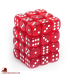 Chessex Dice: Translucent 12mm d6 Red/White dice set (36)