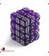Chessex Dice: Translucent 12mm d6 Purple/White dice set (36)