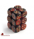 Chessex: Gemini 16mm d6 Black Red/Gold dice set (12)