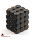 Chessex: Opaque 12mm d6 Black/Gold dice set (36)