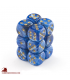 Chessex: Vortex 16mm d6 Blue/Gold dice set (12)