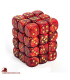 Chessex: Scarab 12mm d6 Scarlet/Gold dice set (36)