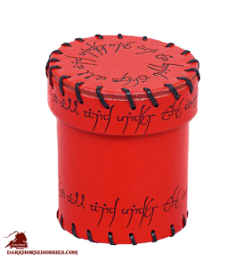 Elven Leather Dice Cup Red