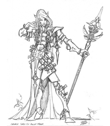 Warlord: Elves - Larnach the Grey, Elven Mage