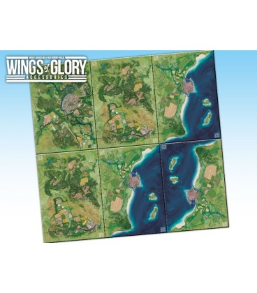 Wings of Glory: Game Mat - City (four maps together)