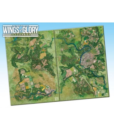 Wings of Glory: Game Mat - Coast (WGA502A and WGA502B together)