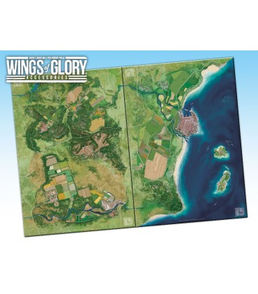 Wings of Glory: Game Mat - Coast (WGA502A and WGA502C together)