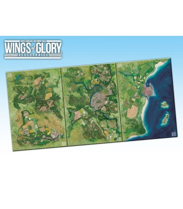 Wings of Glory: Game Mat - Coast (WGA502A, WGA502B and WGA502C together)